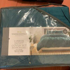 Threshold bundle flat sheet & duvet cover